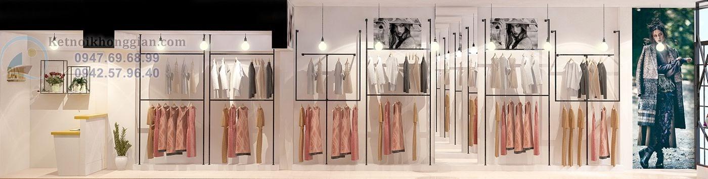 thiết kế nội thất cửa hàng thời trang