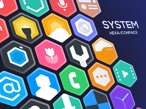 hexa icon pack : hexagonal screenshot 2