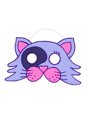 Barnmask, katt