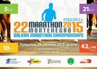 Photo: 22. Podgorički marato, Podgorica, 25.10.2015.
