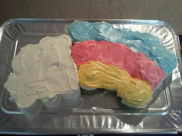 Somewhere Over The Rainbow Pull Apart Cake Recipe