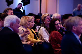 """Photo: Participants react during the closing conversation, """"Leadership for the Future: Where Will It Come From?"""" Saturday, Nov. 17 at the RAND Politics Aside event in Santa Monica."""