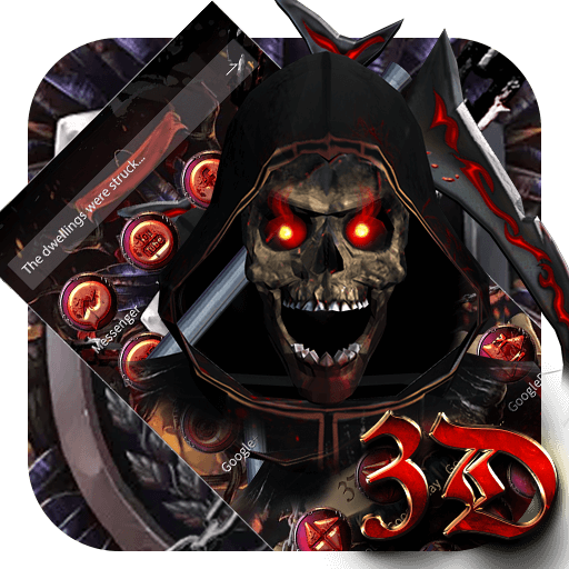 Blood Reaper 3D Skull Theme (app)
