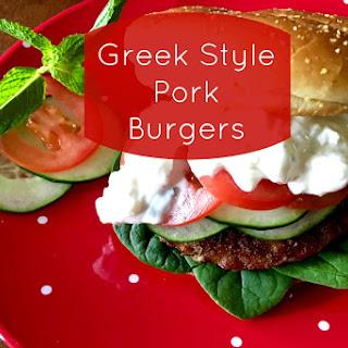 Greek Style Pork Burgers