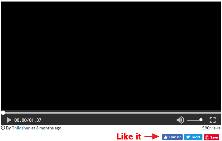 Photo slideshow player window screenshot