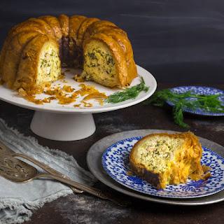 Phyllo Torte Stuffed with Chicken, Ricotta and Swiss Chard.