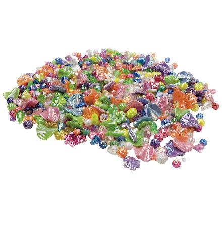 Plastpärlor pärlemor 500/fp
