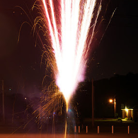 Fireworks by Kevin Sullivan - Abstract Fine Art ( rocket, fireworks, alabama )