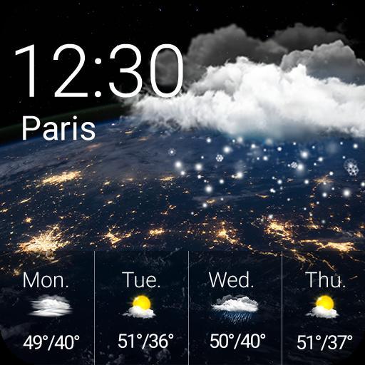 Weather Clock Widget Earth