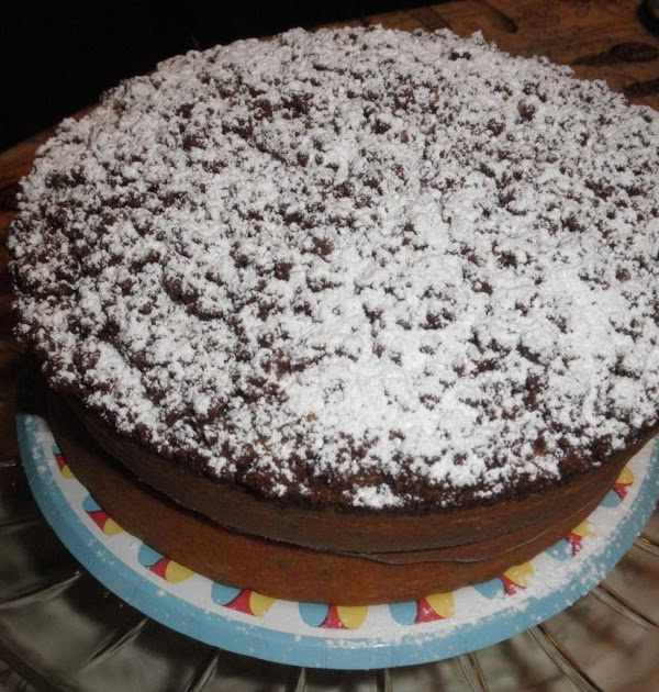 Place crumb layer on top of cream layer.  Top off the cake by...