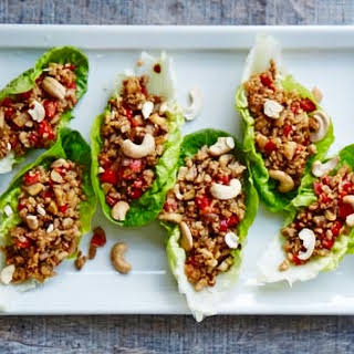 Leftover Spicy Pork And Lettuce Cups.