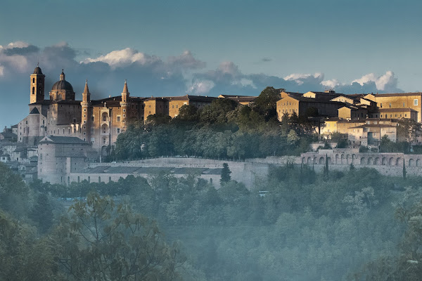 Urbino Tramonto e foschia di pierce