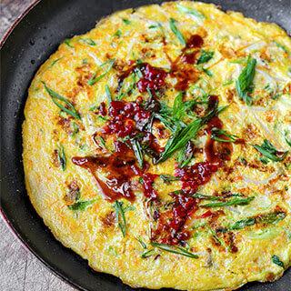 Chinese Vegetable Omelette.