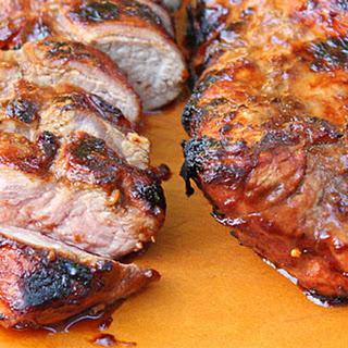 Backyard Barbecued Pork Tenderloin.