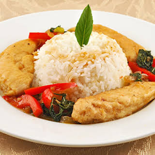Thai Chicken with Basil and Black Pepper.