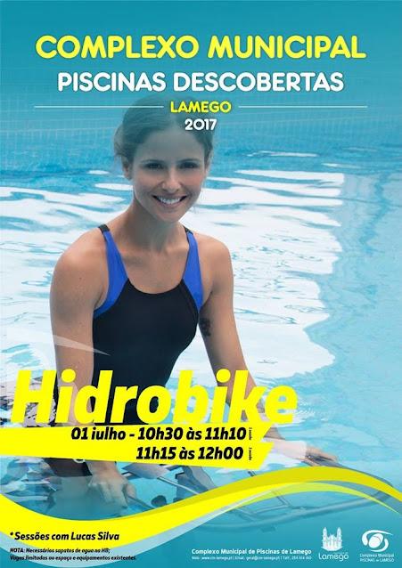 Hidrobike anima o próximo sábado nas Piscinas de Lamego