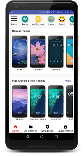 Themes Manager for Huawei / Honor EMUI Android App Screenshot