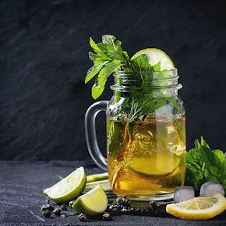 Muddled Mint Iced Green Tea