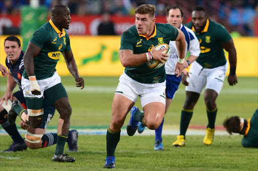 Malcolm Marx of the Springboks during the Castle Lager Incoming Series 1st Test between South Africa and France at Loftus Versfeld on June 10, 2017 in Pretoria, South Africa.