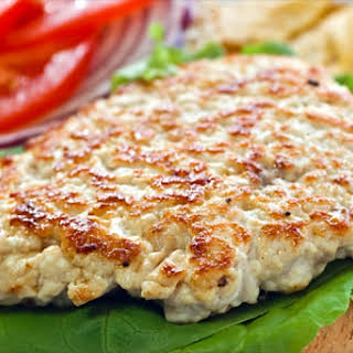 Open Face Grilled Turkey Burgers.