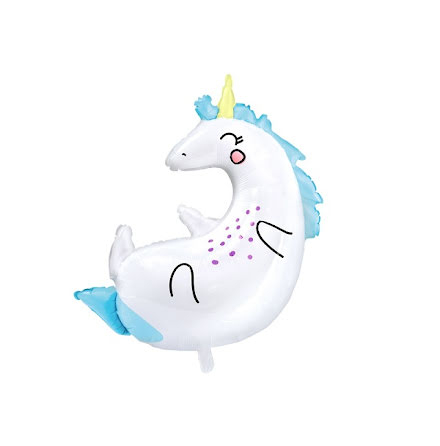 Folieballong - Unicorn star