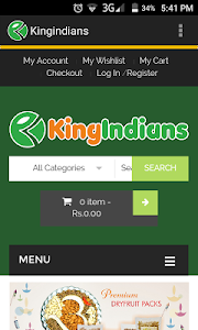 Kingindians Online Shopping screenshot 0