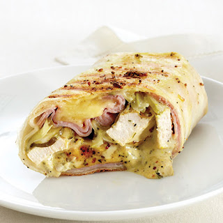 Grilled Chicken, Ham & Swiss Wraps Recipe