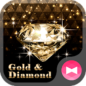 Rich Wallpaper Gold & Diamond Theme