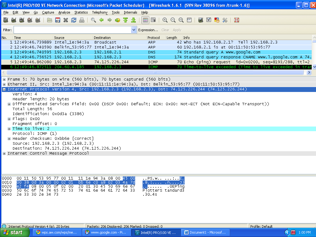 wireshark lab ip Wireshark lab: dns (modified) supplement to computer networking: a top-down  • open wireshark and enter ipaddr == your_ip_address into the filter, where.