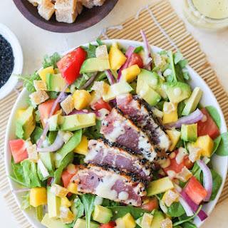 Seared Ahi Salad with Creamy Wasabi Dressing