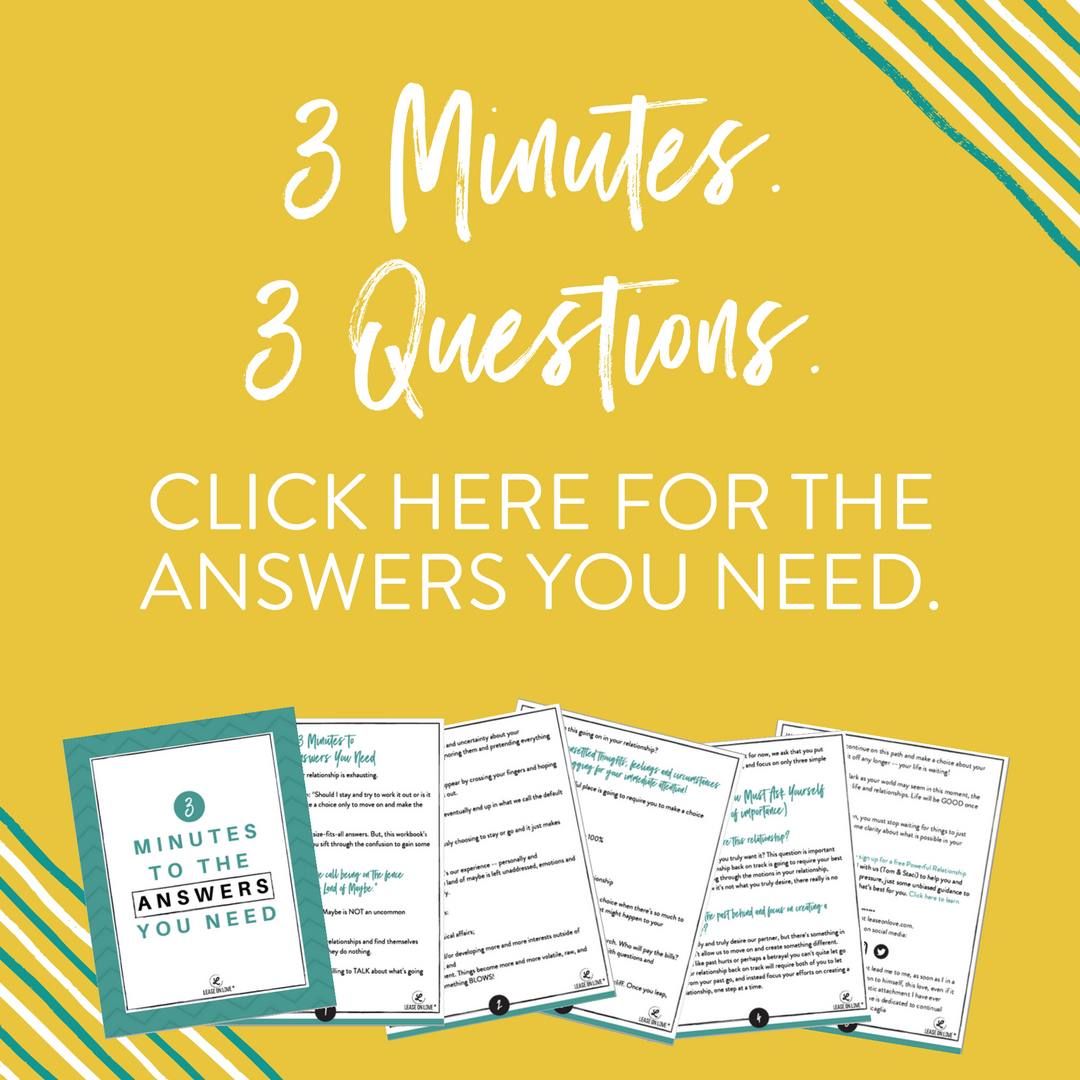 3 Minutes. 3 Questions. Click Here For The Answers You Need.