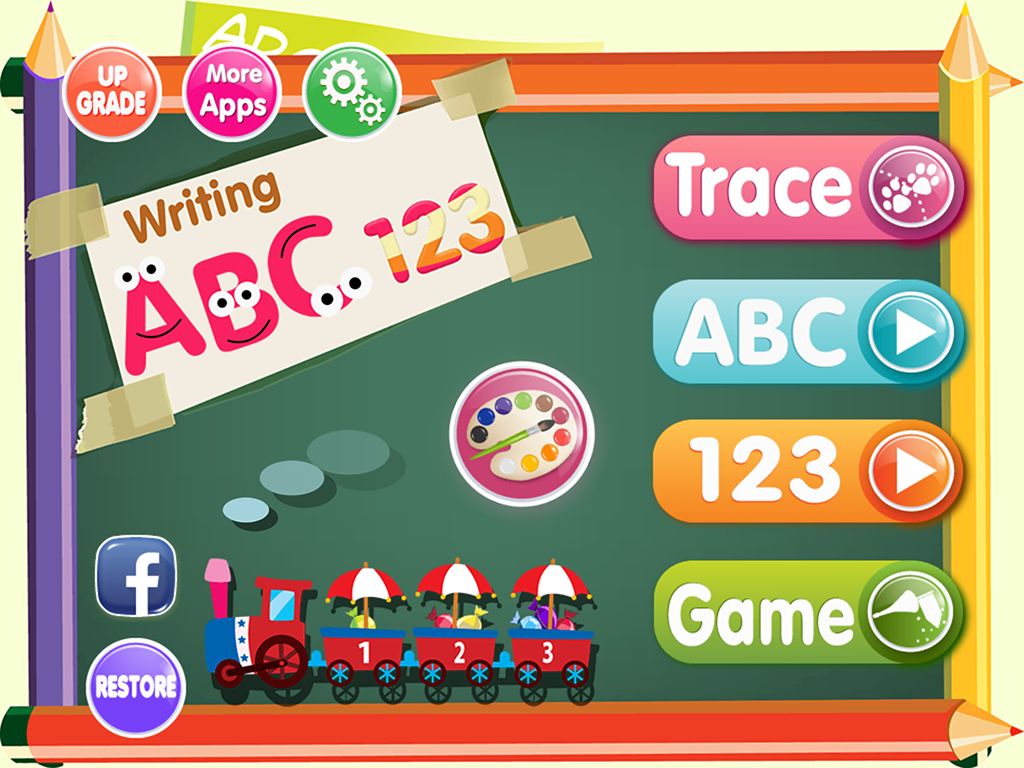 ABC 123 Writing Coloring Book Screenshot