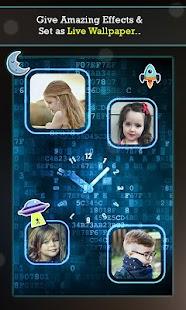 Clock Collage Photo Frame Maker: Live Wallpaper - náhled