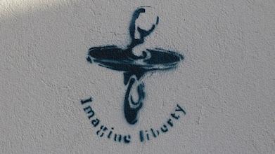 Photo: Stencil; Imagine Liberty