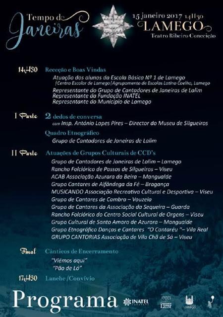 Tempo de Janeiras - Teatro Ribeiro Conceição - 15 Janeiro de 2017