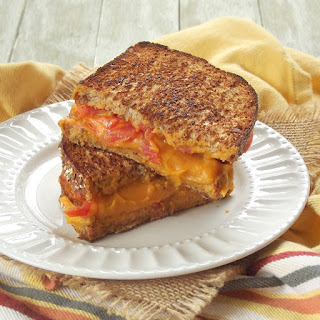 Vegan Grilled Cheese with Sweet Potato Nacho Cheese.