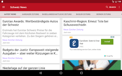 Schweiz News- screenshot thumbnail