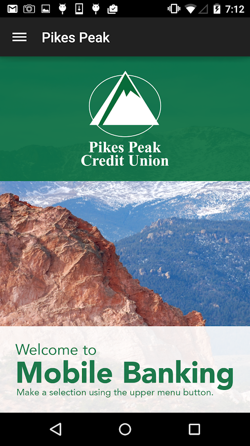 Pikes Peak Credit Union Mobile- screenshot