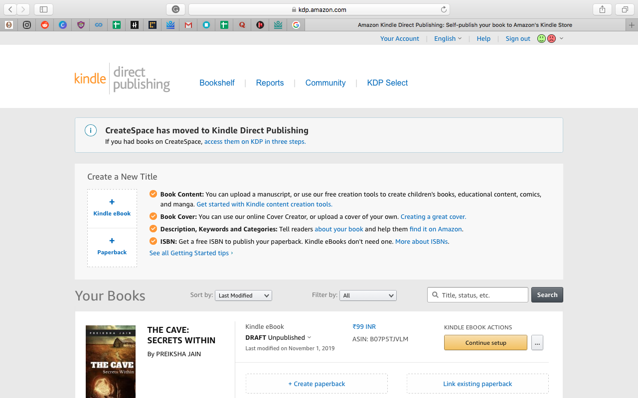 Amazon Self-publishing
