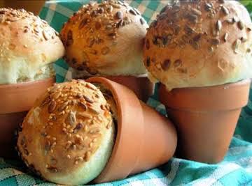 Rustic Flower Pot Bread Loaves or Bread Rolls