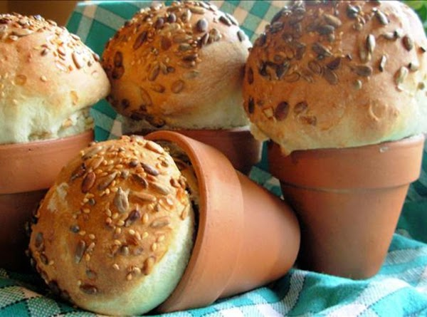 Rustic Flower Pot Bread Loaves Or Bread Rolls Recipe