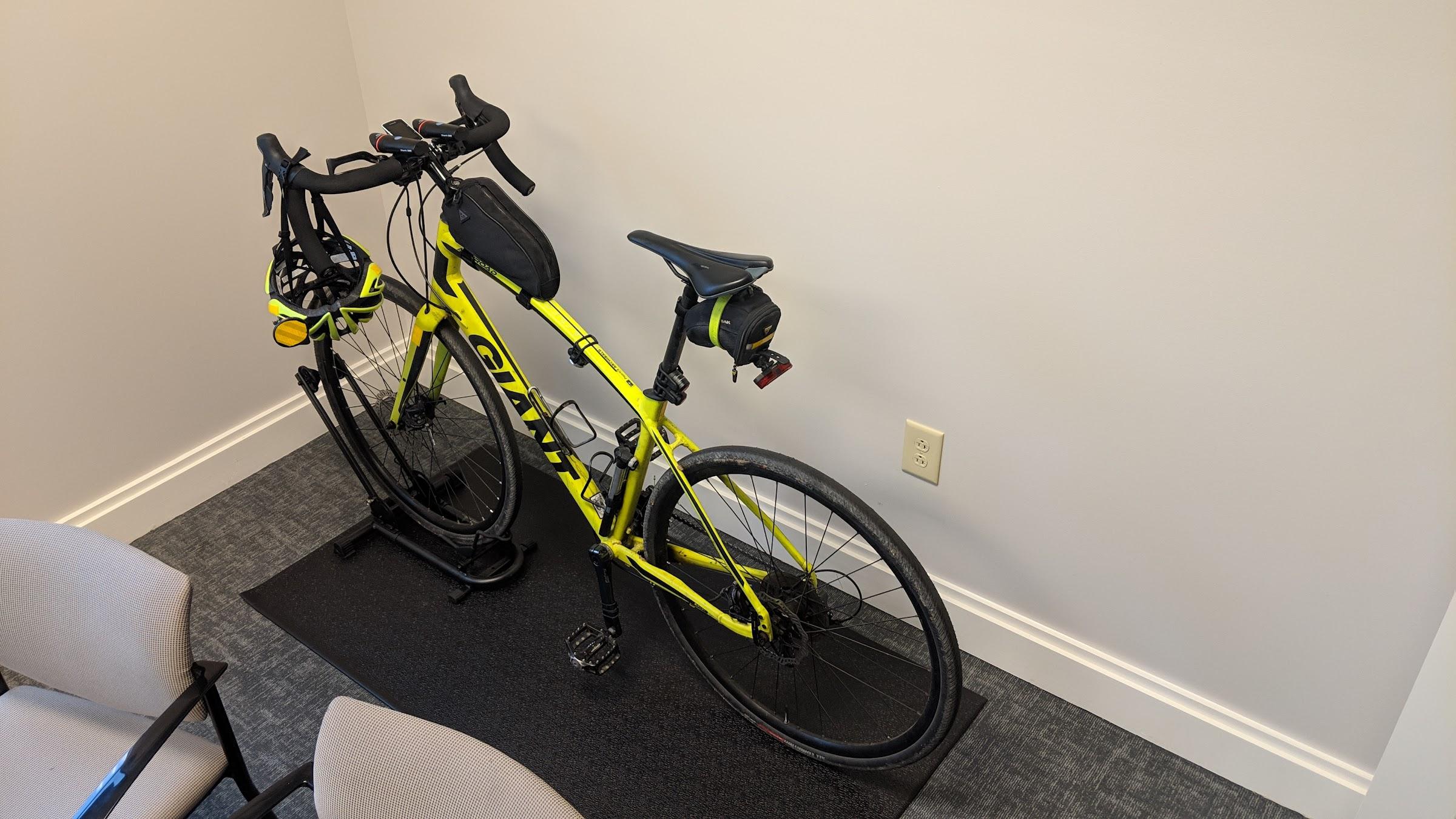 Bike parking mat