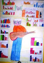 Photo: Alfredo Romano visto dai ragazzi di IV elementare di Civita Castellana mentre fa loro animazione in Biblioteca. Maggio 2007.
