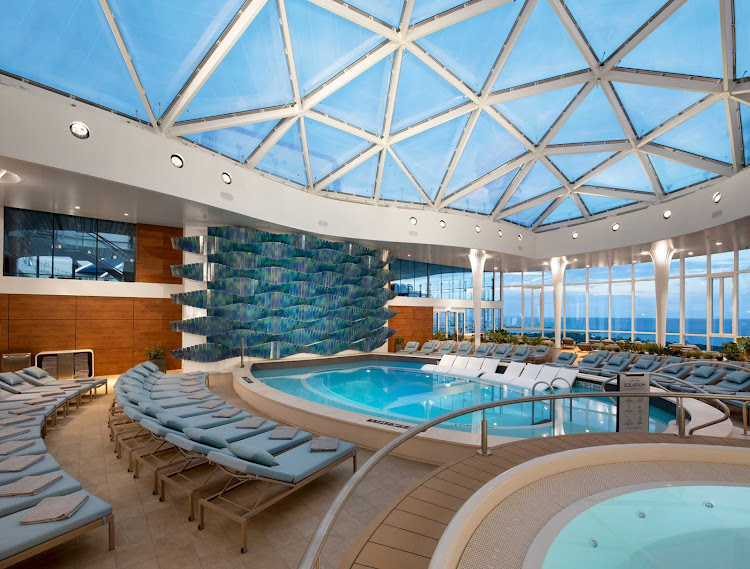 Head to the Solarium aboard Celebrity Edge and melt your cares away.