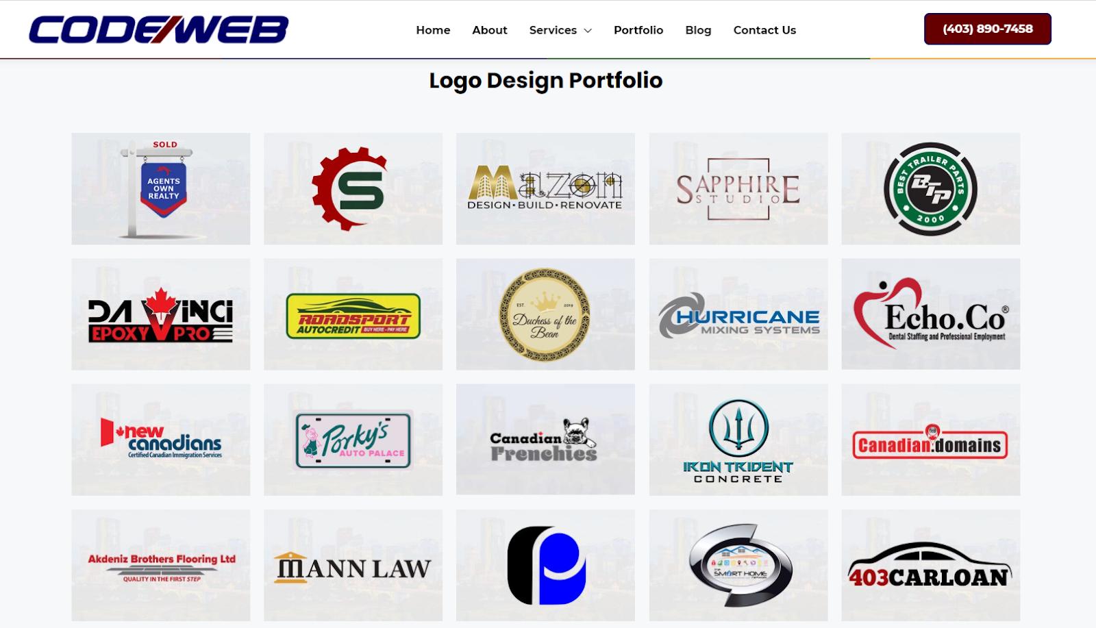 Code Web's Logo Portfolio