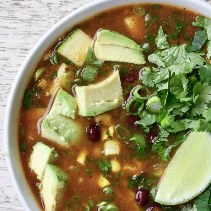 Mexican Vegetable Soup with Fresh Corn & Fire Roasted Tomato Broth