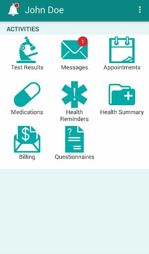 Sutter Health My Health Online screenshot