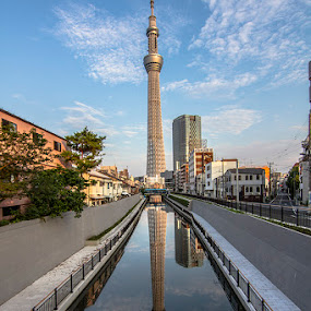 sky tree tower by Irfan Maulana - Buildings & Architecture Bridges & Suspended Structures