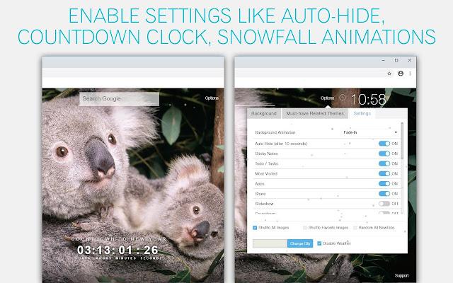 Koala Bear Custom New Tab