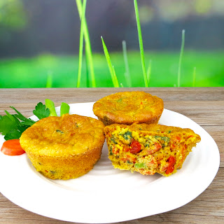 High-Protein Savory Vegetable Muffins.